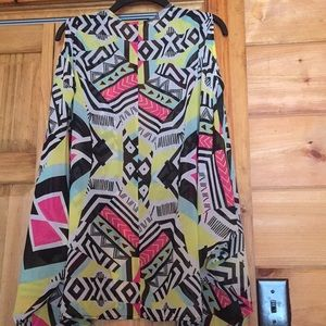 BONGO Other - Colorful jacket with peek a boo sleeves and pants